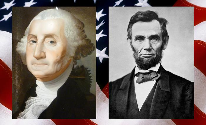 Image result for abraham lincoln y george washington