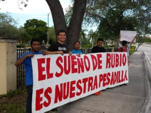Lincoln-Day-Dinner-Protest-Marco-Rubio-Miami-Dade
